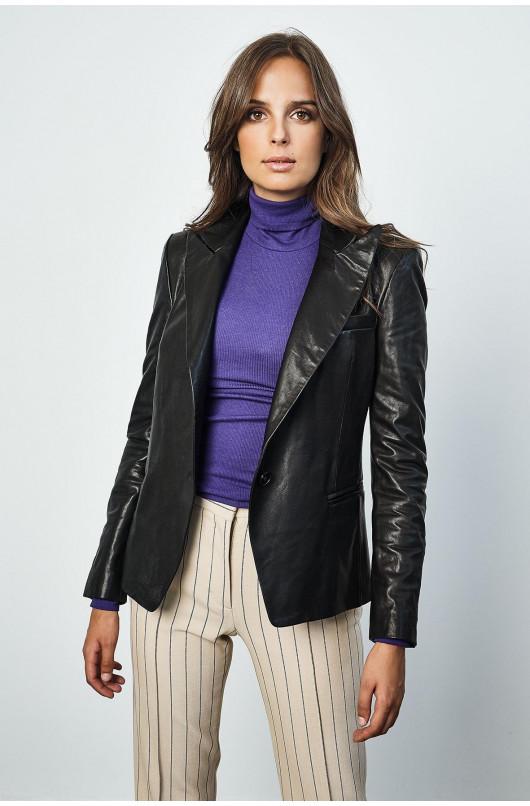 Dione leather blazer