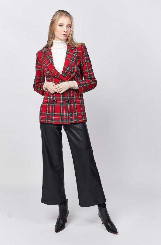 Pantalon droit faux cuir