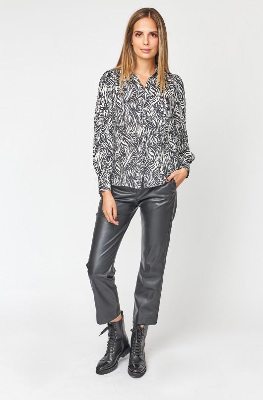 Pantalon chino faux cuir
