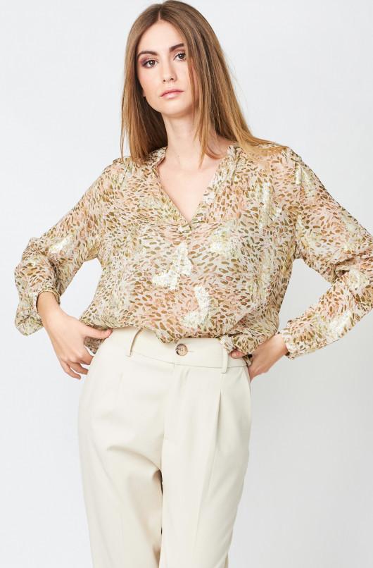 Clemence Leopard blouse