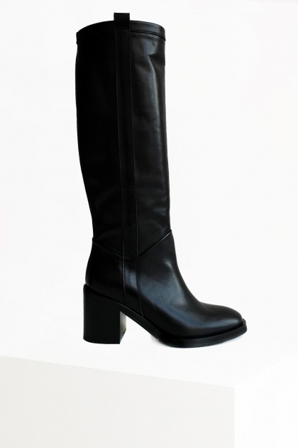 Wood high leather boots