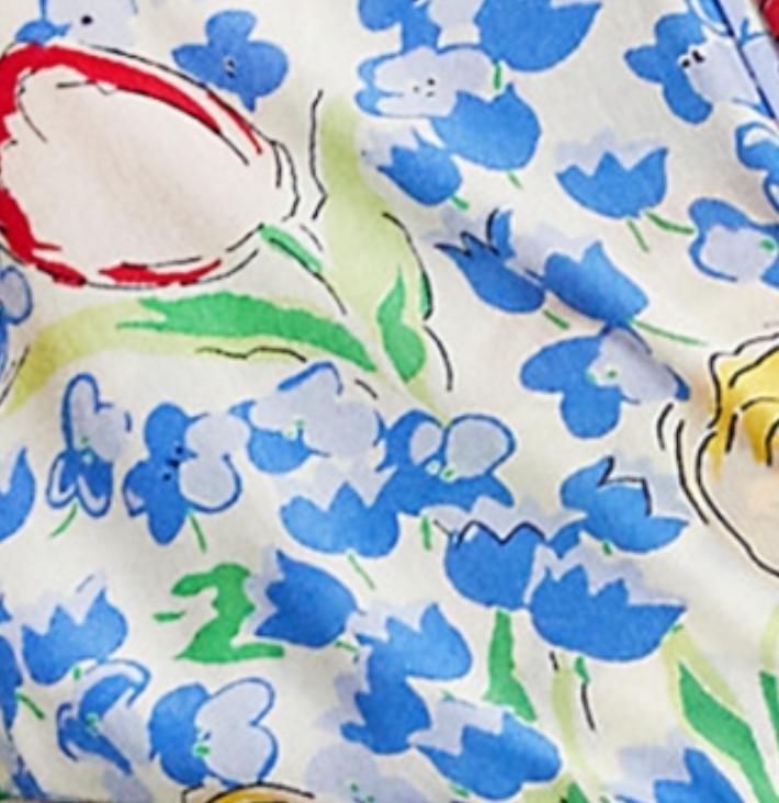 1012 blue tulip print